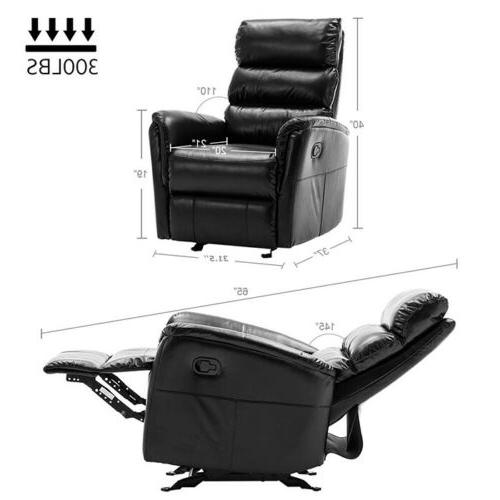 Manual Glider Rocker Recliner Air Pad Seat Lounge