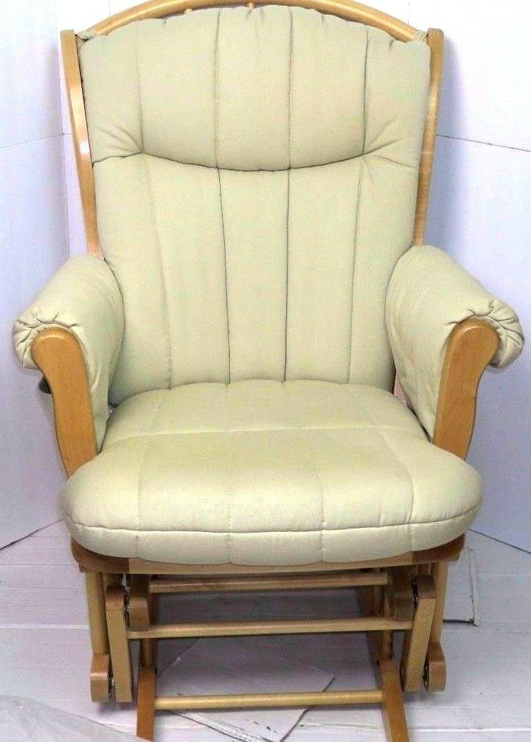 Dutailier Glider & Ottoman Maple Fabric Rocking Chair