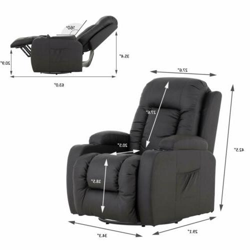 Massage Seat w/ Cup Side Brown