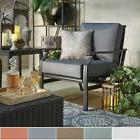 Matira Metal Outdoor Modern Cushioned Rocking Chair iNSPIRE