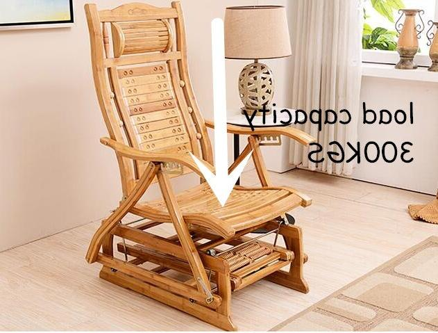 Modern Bamboo <font><b>Rocking</b></font> Adult Bamboo Room <font><b>Chair</b></font> for Elderly