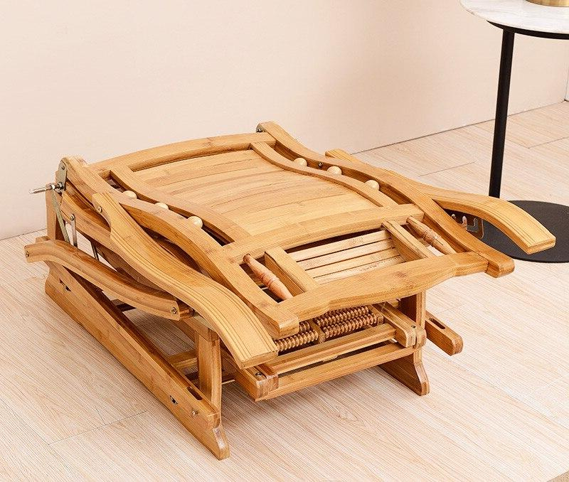 Modern <font><b>Rocking</b></font> <font><b>Chair</b></font> Adult Rocker Bamboo Furniture Indoor Living Room <font><b>Chair</b></font> for