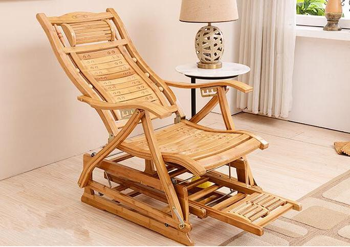 Modern Bamboo Adult <font><b>Glider</b></font> Bamboo Indoor Room Recliners for