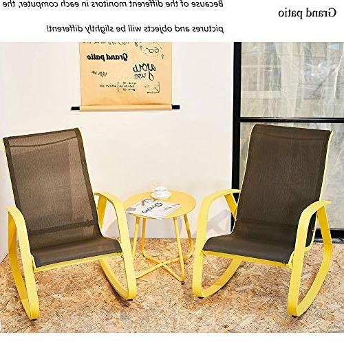 Grand Modern Rocking Chair, Yellow Aluminum Frame, Furniture/Outdoor/Porch