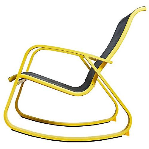 Grand patio Rocking Chair, Glider with Yellow Furniture/Outdoor/Porch