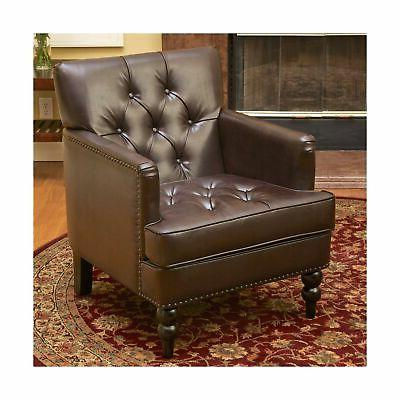 murphy leather club chair