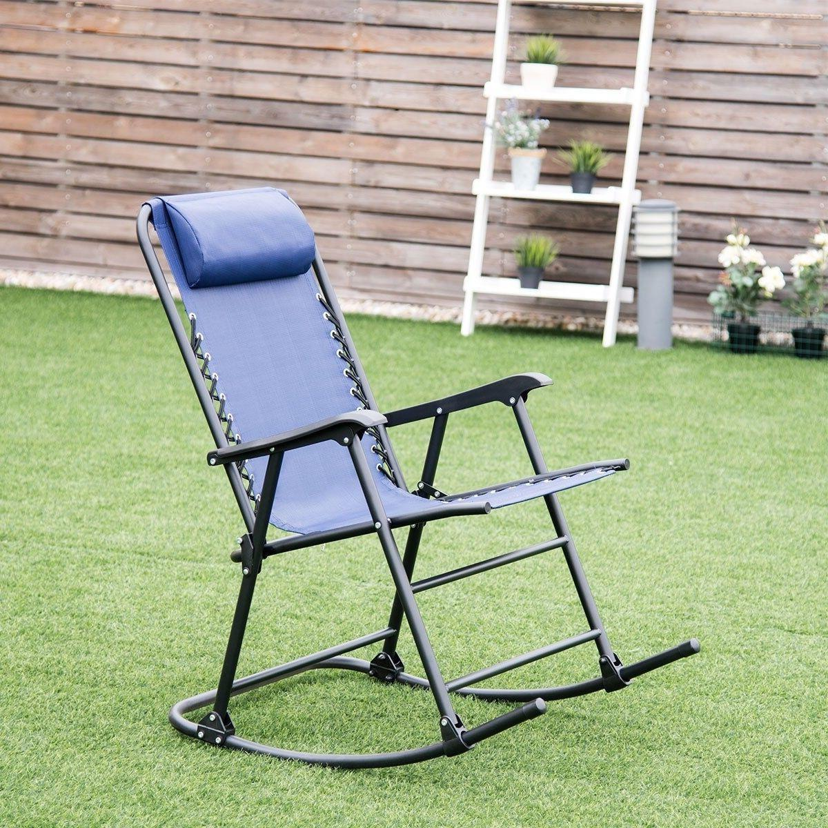 new blue outdoor patio headrest folding zero