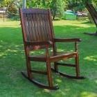 NEW Rocking Chair Rocker Acacia Wood Antique Style High Back