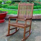 NEW Traditional Porch Patio Garden Swing Rocking Chair Brown