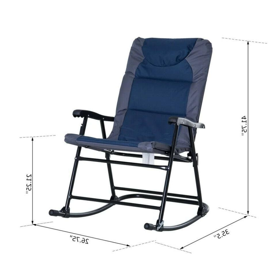 OUTDOOR HIKING ROCKING CHAIR Blue Gray Set 2