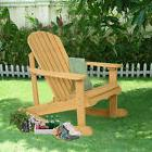 Outdoor Natural Fir Wood Adirondack Rocking Chair Patio Deck