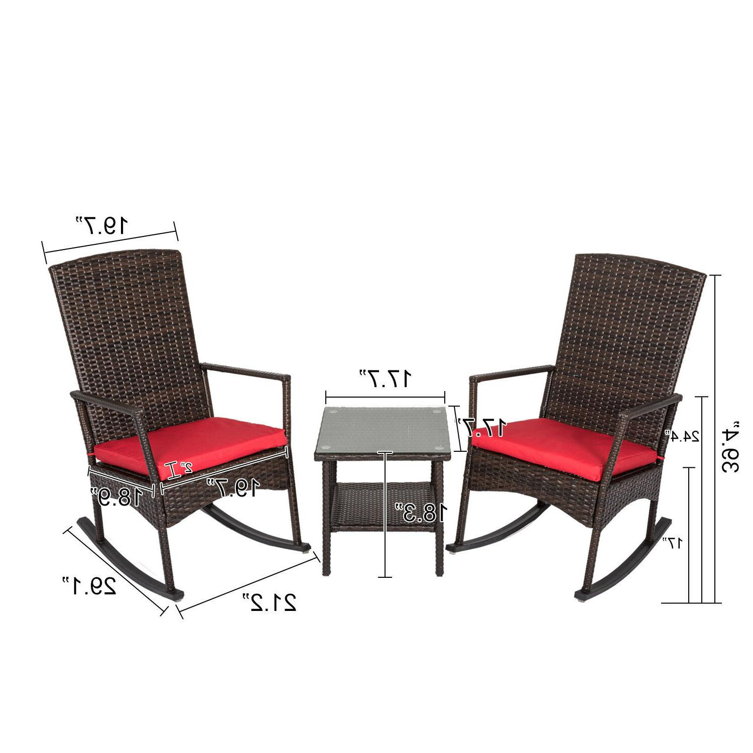 Outdoor Patio Chair Lounge Furniture W/ Cushion