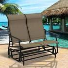 Outdoor Relax Couple Soft Double Patio Glider Rocking Armcha