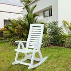 outdoor resin plastic rocking chair white