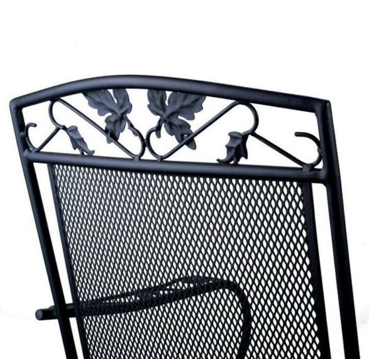 OUTDOOR CHAIR Patio Porch Wrought Metal