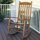 outdoor rocking chair natural eucalyptus wood slat