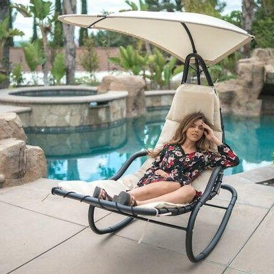 outdoor rocking chaise lounge chair cushion w
