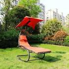iKayaa Outdoor Rocking Lounger Chair Chaise Recliner Lounge