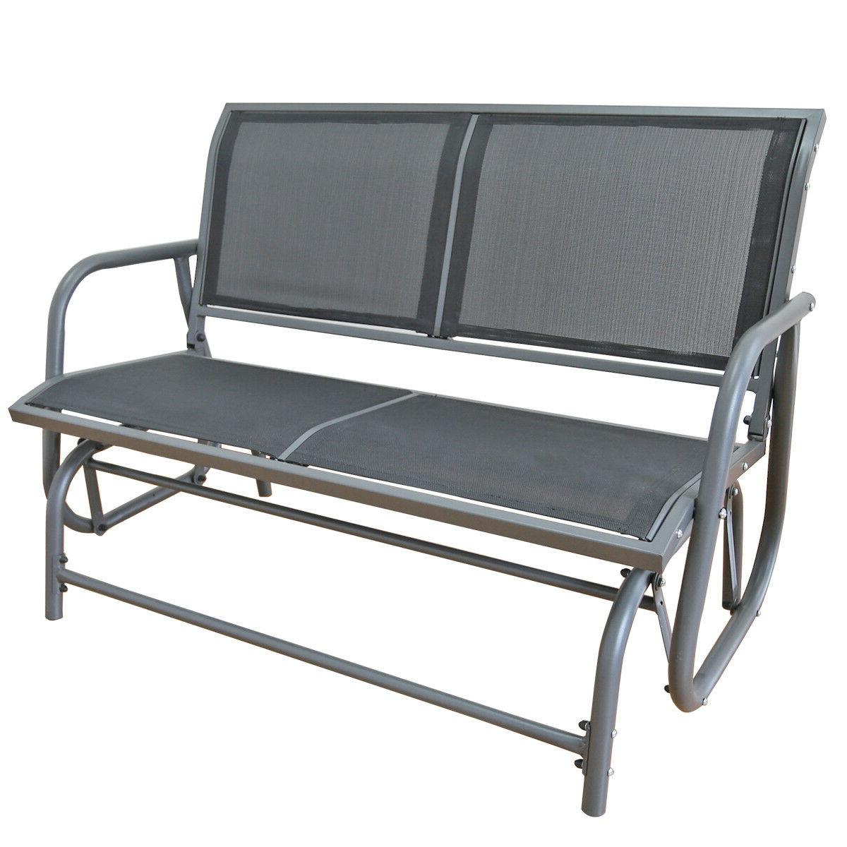 outdoor swing glider 2 person patio rocking