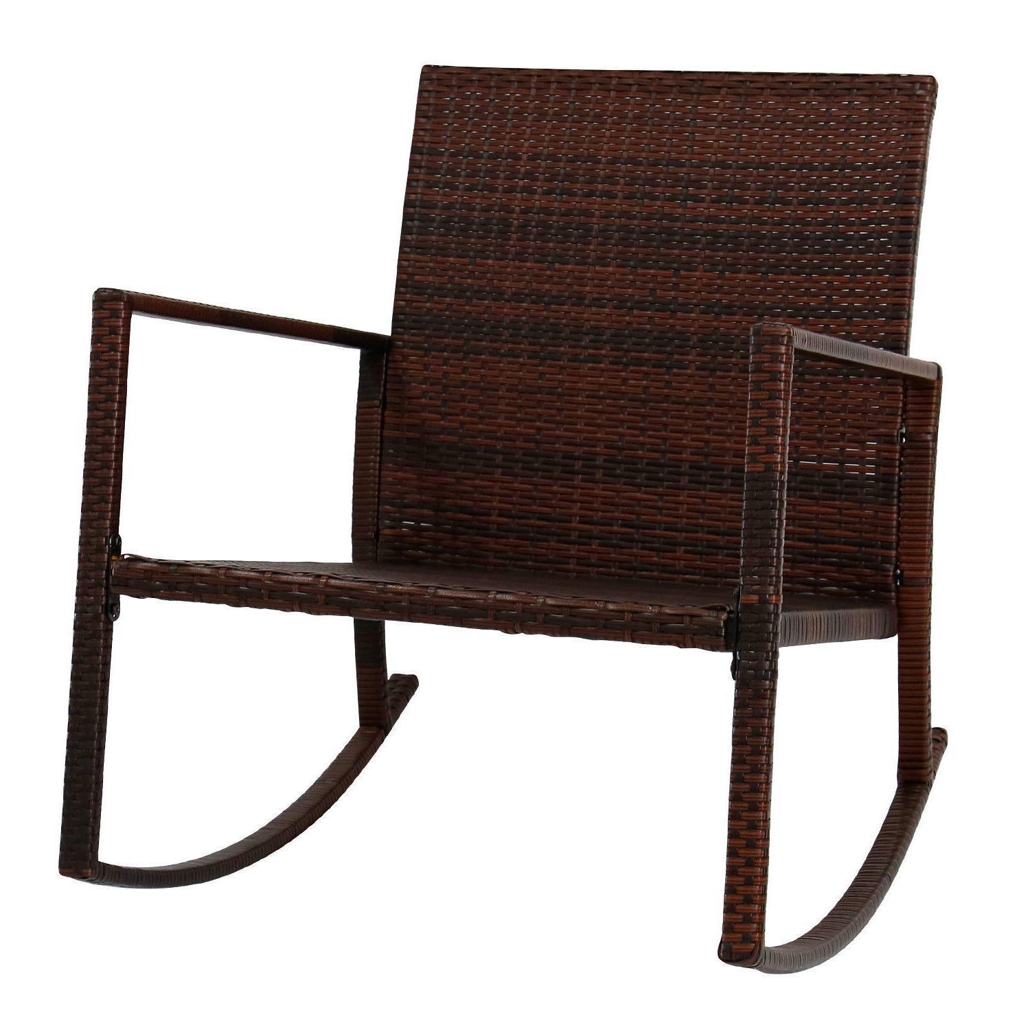 Outdoor Wicker Rocking Chair Furniture Seat