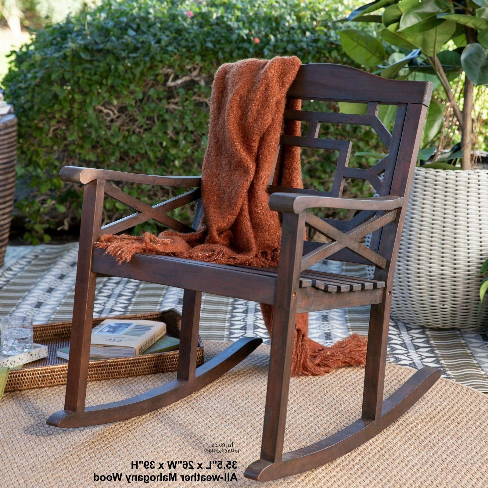 Outdoor Wood Rocking Chair Patio Porch Rocker Garden Balcony