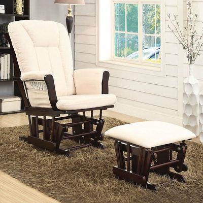 paola accent glider rocking chair and ottoman