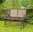 Patio 2 Person Loveseat Rocking Bench Double Glider Chair Ar