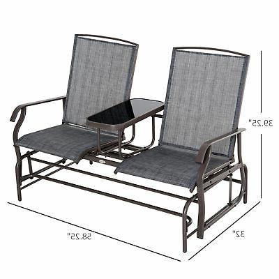 Outsunny Glider Rocking Chair Metal