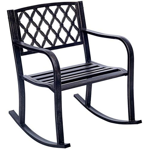 patio metal rocking chair porch