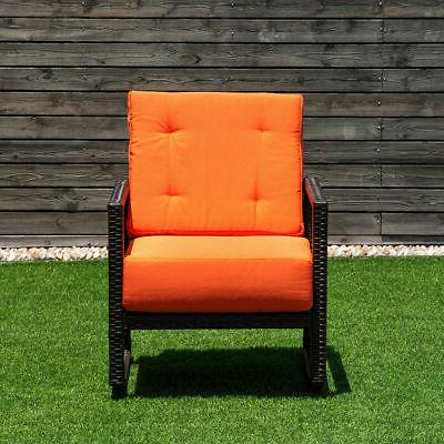 Patio Rattan Chair Rocker Armchair Garden Furniture