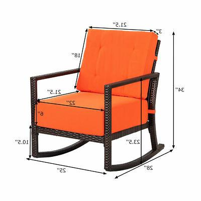 Patio Rattan Rocker Armchair Outdoor Garden Furniture