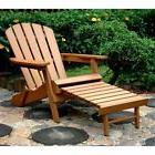 Merry Products Plastic Wood Folding Adirondack Chair with Ot