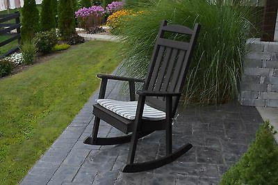 POLY FURNITURE WOOD*CLASSIC ROCKING CHAIR *BLACK COLOR* - PO