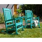 POLYWOOD Presidential 3-piece Outdoor Rocking Chair Set with