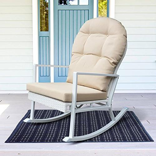 rattan rocking chair wicker glider