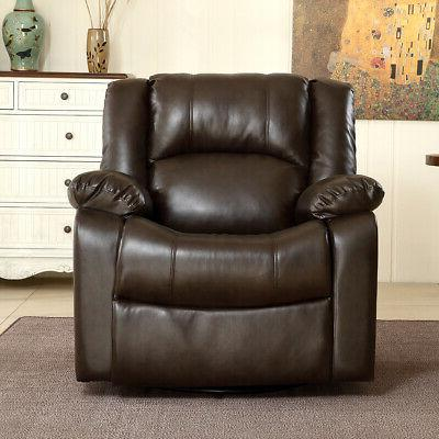 Recliner and Chair Leather Seat Room,