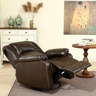 Recliner and Rocking Chair Leather Living Room,