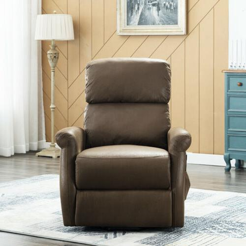 Recliner Chair Chair Leather Modern Chair Sofa Padded Brown
