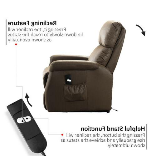 Recliner Leather Cushion Chair Sofa