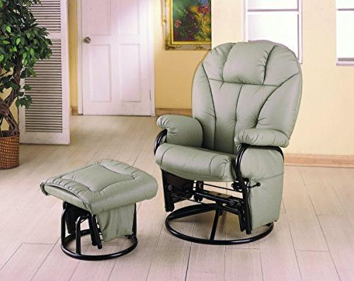recliner leatherette chair w ottoman