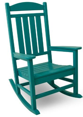 recycled plastic presidential rocking chair