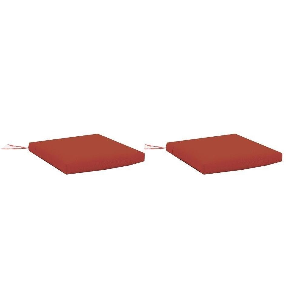 Red Replacement Outdoor Rocking Chair Cushion 2 Pack All Wea