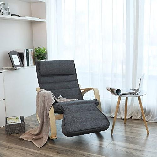 SONGMICS Relax Lounge Chair, Recliners, with Natural Cushion