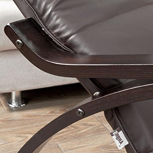 Haotian Comfortable Relax Chair with Foot Design, Lounge Chair, Recliners Removable Bag,FST20-BR,Brown