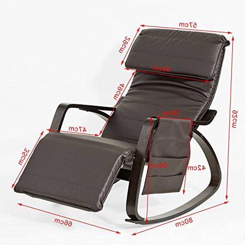 Haotian Comfortable Relax Chair with Design, Lounge Chair, Removable Bag,FST20-BR,Brown