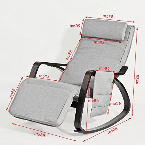 Haotian Chair Chair with Adjustable Footrest,FST20-HG,Grey