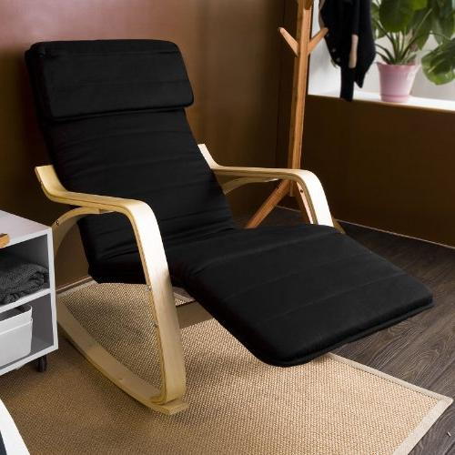 Haotian Rocking Chair with Design, Chair, Poly-cotton Fabric FST16