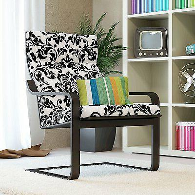 relax rocking chair with black comfortable cushion