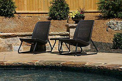 Keter Rio 3 Pc All Weather Garden Conversation Table