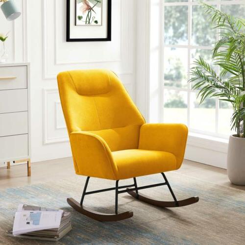 Tribesigns Rocking Chair Modern Accent Arm Chair with Ergono